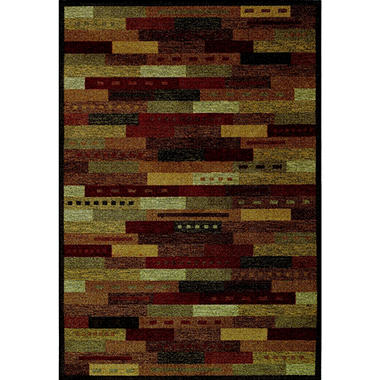"Village Brickwork Area Rug - 4'11"" x 7' - Multi"