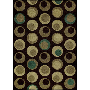 "On-the-Dot Area Rug - 4'11"" x 7' - Chocolate"