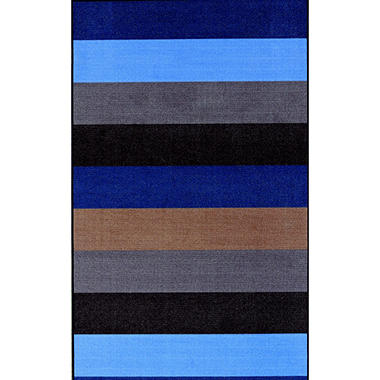 "Fraternity Row Striped Area Rug - 3'3"" x 5 - Blue"