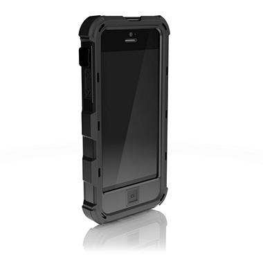 iPhone 4/4s Ballistic Hard Core (HC) Series Case - Black/Black with Holster
