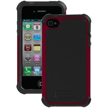 Ballistic Shell Gel SG Series Case for iPhone 4/4s - Plum/Charcoal
