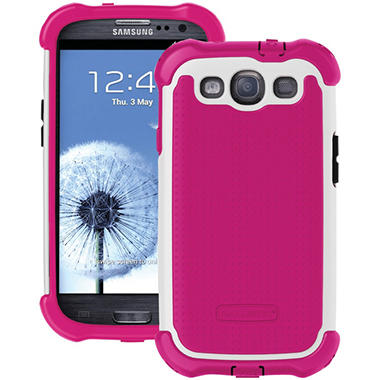 Ballistic SG MAXX Case for Samsung Galaxy SIII - Pink / White