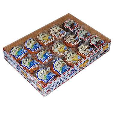 Rich & Moist Individually Wrapped Assorted Muffins - 4 oz. - 15 ct.