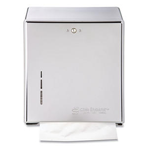 San Jamar C-Fold or Multi-Fold Lockable Towel Dispenser