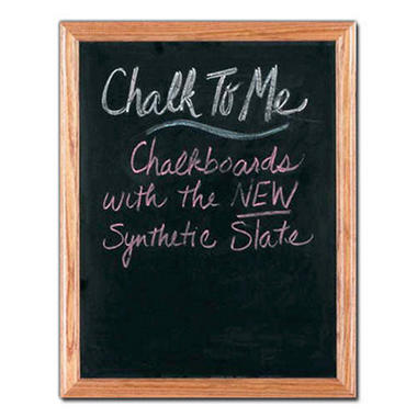 Framed Chalkboard - Honey Oak