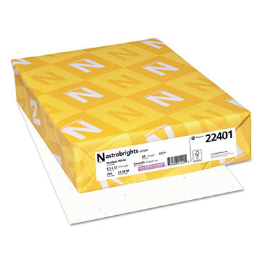 Wausau Astrobrights Cover Colored Stock Paper, Stardust White (Letter, 250 ct.)