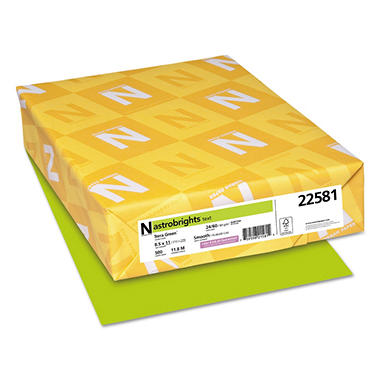 Wausau - Astrobrights Colored Paper, 24lb, Terra Green - Ream