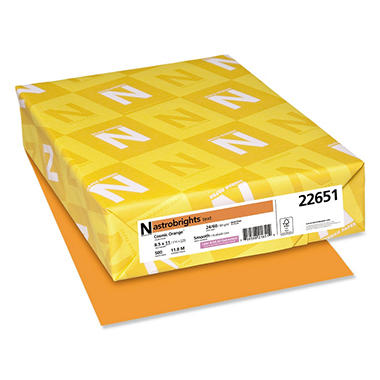 Wausau - Astrobrights Colored Paper, 24lb, Cosmic Orange - Ream