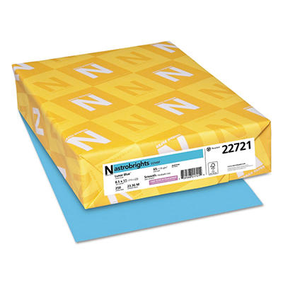 Wausau Astrobrights Cover Colored Stock Paper, Select Color (Letter, 250 ct.)