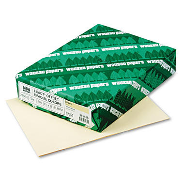 Wausau - Exact Opaque Colored Paper, 24lb, Ivory - Ream