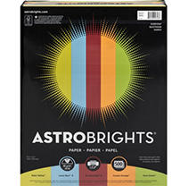 "Astrobrights® Color Paper, 24 Lb, 8.5"" X 11"", ""everyday"" 5-color Assortment, 500 Sheets"