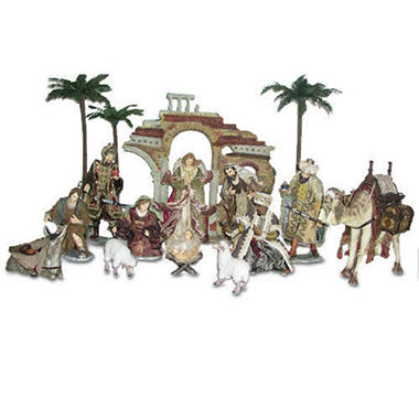 Fabric Mache Nativity Set