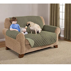 Quilted Water-Absorbant Reversible Furniture Protectors - Loveseat (Various Colors)