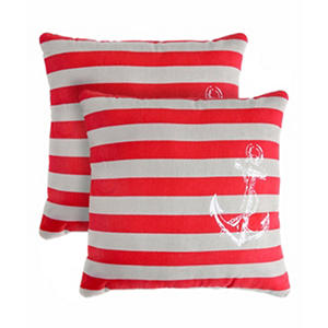 Anchor Stripe Decorative Pillows, Set of 2