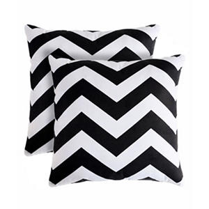 Black Rockford Decorative Pillows, Set of 2