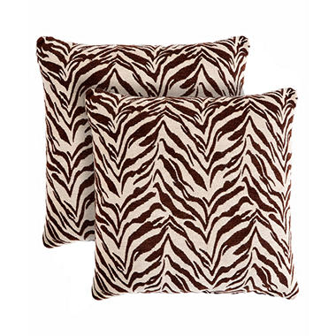 Zebra Print Decorative Pillows, Set of 2 - Sam s Club
