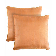 Lurex Decorative Pillows, Set of 2 (Pumpkin)