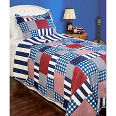 Vintage Classics Collection Harmony Square Kids Quilt Set - Various Sizes