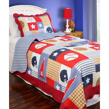 Vintage Classics Collection Sports Arena Kid's Quilt Set - Various Sizes