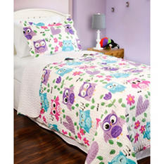 Vintage Classics Collection Whoot Whoot Kid's Quilt Set - Various Sizes