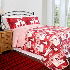 Home ID Collection Christmas Lodge Quilt Set - Various Sizes