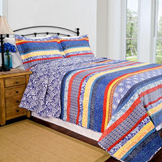 Home ID Collection Escapade Blue Quilt Set - Various Sizes