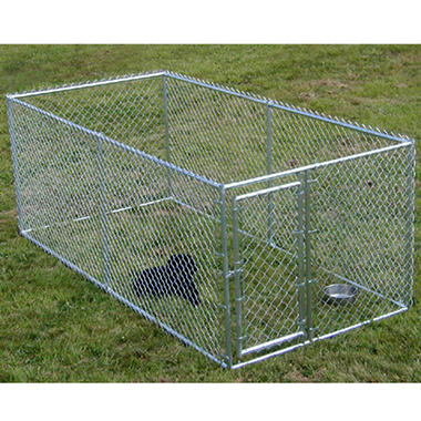Lucky Dog Chain Link Kennel - 10'L x 5'W x 4'H