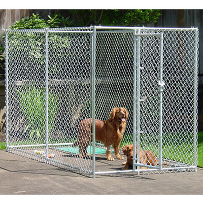 Lucky Dog Chain Link Kennel - 10'L x 5'W x 6'H
