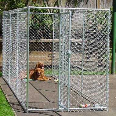 Lucky Dog Chain Link Kennel - 15'L x 5'W x 6'H