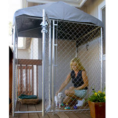 Lucky Dog Hi-Rise Deck/Patio Kennel with Cover