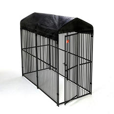Lucky Dog European Style Kennel w/ Cover - 10'L x 5'W x 6'H