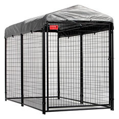 Lucky Dog 4 x 8 Welded Wire Kennel with Cover