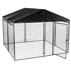 Lucky Dog Modular Kennel with Cover and Frame - 10'L x 10'W x 6'H