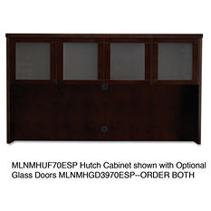 "Mayline 72"" Mira Series Veneer Assembled Hutch Frame, Espresso"