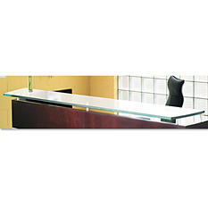 Mayline Napoli Series Glass Reception Counter, Frosted