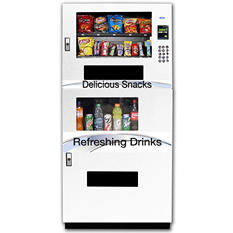 Seaga Compact Combo Vending Machine  with Credit/Debit Card Reader