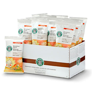 Starbucks Coffee Breakfast Blend 2.5 oz. Portion Packs - 18 ct.