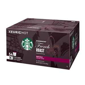 Starbucks French Roast Coffee (54 K-Cups)