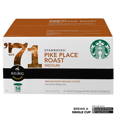 Starbucks Coffee, Pike Place (54 K-Cups)