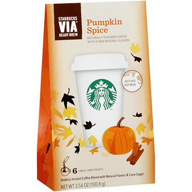 Starbucks Via Pumpkin Spice Coffee - 18ct.