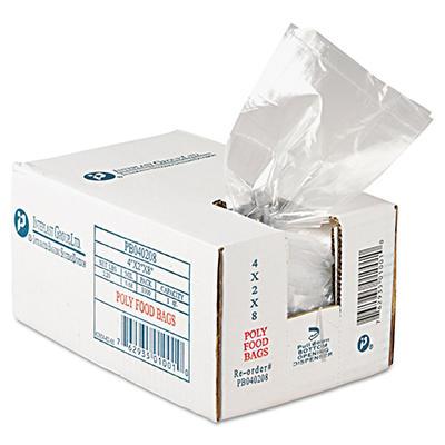 "Bun Rack Cover Bags, 4"" x 2"" x 8"" (1,000 ct.)"