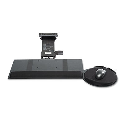 Kelly Computer Supply - Leverless Lift N Lock Keyboard Tray, 19w x 10d -  Black
