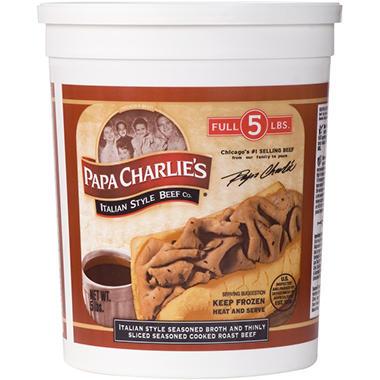 Papa Charlie's Italian Beef - 5 lbs.