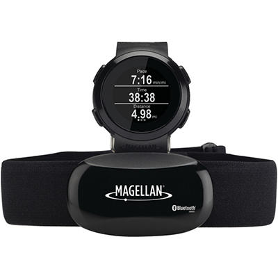 Magellan TW0100SGHNA Echo Fitness Watch with Heart Rate Monitor (Black)