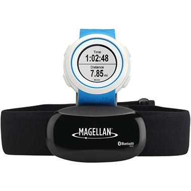 Magellan TW0101SGHNA Echo Fitness Watch with Heart Rate Monitor (Blue)