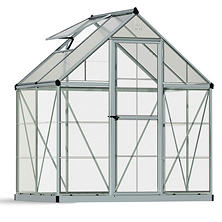 Palram Nature Hybrid 6' x 4' Greenhouse - Silver