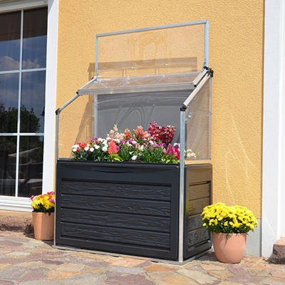 Palram Plant Inn Compact Raised Garden Bed Greenhouse