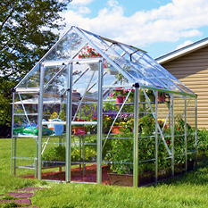 Poly-Tex Palram Snap & Grow Silver Greenhouse - 8' × 8'