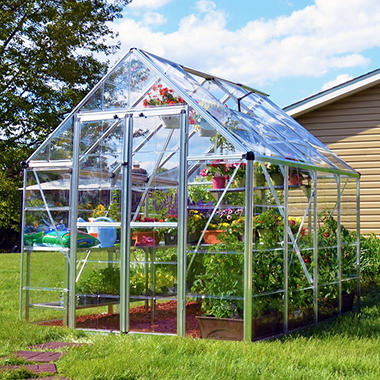 Snap & Grow Silver Greenhouse - 8' × 8'