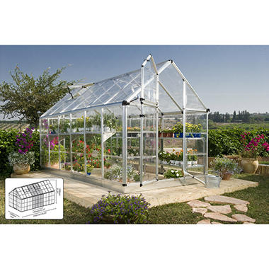 Snap & Grow Greenhouse - Silver - 6' × 16'